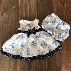 *2/$10* Blue Floral Dress & Panty Set
